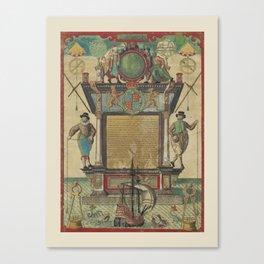 Mariner's Ketubah Canvas Print