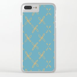 Abstract Astral Pattern Clear iPhone Case