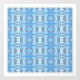 Healing Ultra Blue HD Retro Floral Art Print