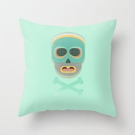 pastel skullington Throw Pillow