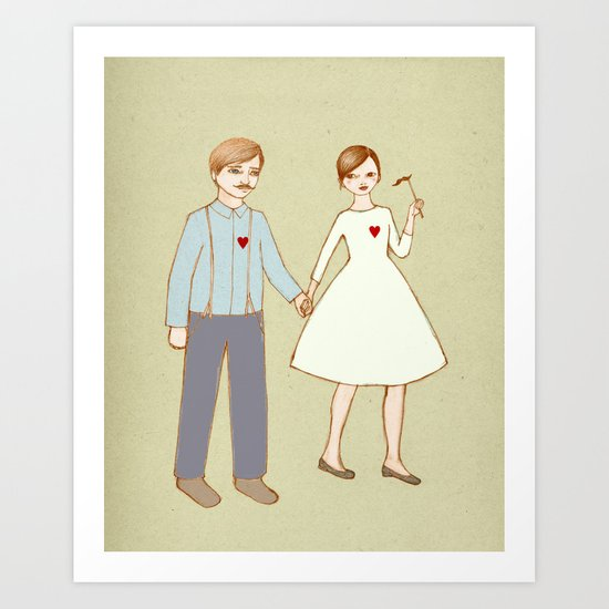 We are together Art Print