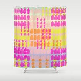 dot turn pattern gradiant blue Shower Curtain
