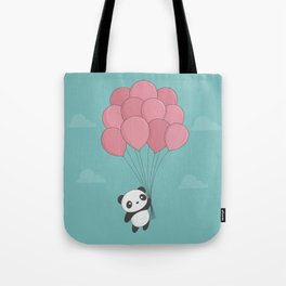 Kawaii Panda In The Sky Tote Bag