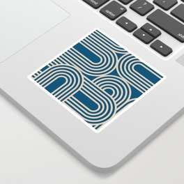 Abstraction_WAVE_GRAPHIC_VISUAL_ART_Minimalism_001 Sticker