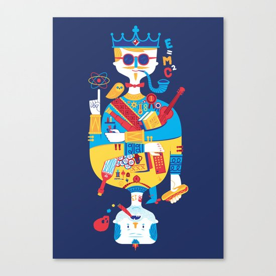 Jack of Smarts (Knave of Slobs) Canvas Print