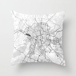 Dijon Map Gray Throw Pillow