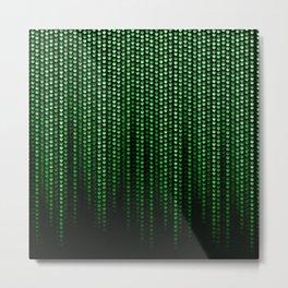 Jamatrix Green Neon Cannabis Code Metal Print