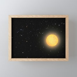 Hubble Space Telescope - Artist's view of ancient star Framed Mini Art Print