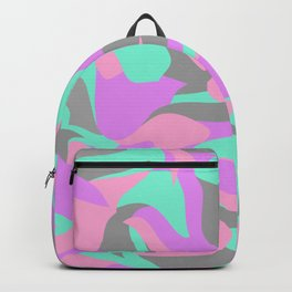Girly colorful abstract pattern Backpack
