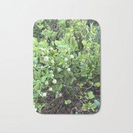Green forest berries Bath Mat