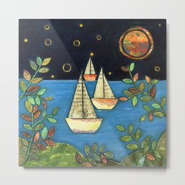Calm at the Sea by Elizabeth Claire Metal Print