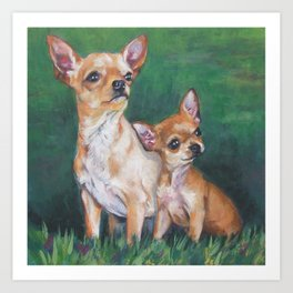 Chihuahua Fine Art Dog Painting from an original painting by L.A.Shepard Art Print