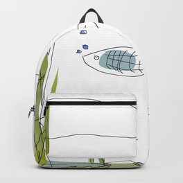 3 Fishies Swimming Under the Ocean Backpack