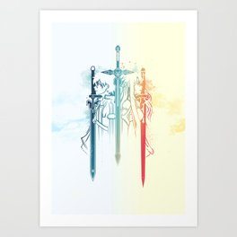 Sword Art Duo Art Print