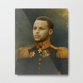 Steph Curry Classical Painting Metal Print