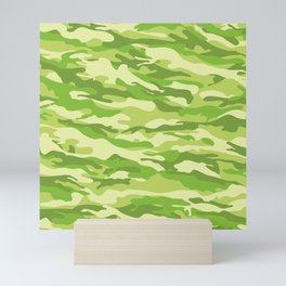 Green Kelp Camo Pattern Mini Art Print