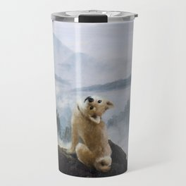 The Wanderer Above the Sea of Doge Travel Mug