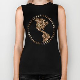 The Earth Is In Our Hands Biker Tank