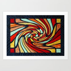 chromatic swirl Art Print