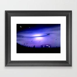 Flight home. Framed Art Print