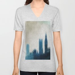 The Many Steepled London Sky Unisex V-Neck