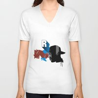 rap V-neck T-shirts featuring Rap by David Navascues