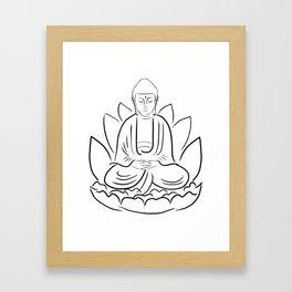 Yogi Buddha Framed Art Print