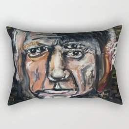 Perverted Little Man (Pablo Picasso, oil on canvas) Rectangular Pillow