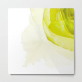 Green Rose Metal Print