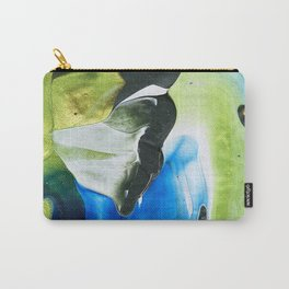 Abstraction - Green and green - by LiliFlore Carry-All Pouch