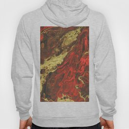 Golden Waves, abstract pouring acrylic Hoody