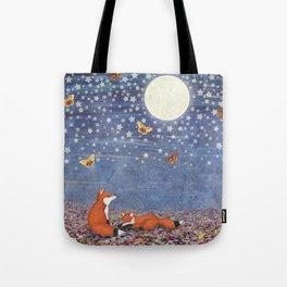 moonlit foxes Tote Bag
