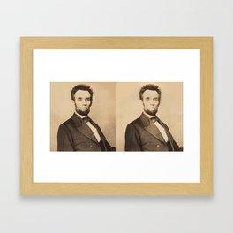 Abraham Lincoln Stereoview Framed Art Print