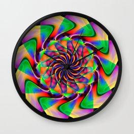 frequency mandala Wall Clock