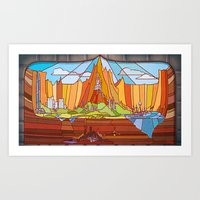Stained Glass Castles Art Print