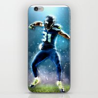 seahawks iPhone & iPod Skins featuring SEAHAWKS POWER by THEMAD3