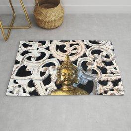 Gold Buddha Om Rug
