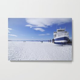 Frozen Ferry Metal Print