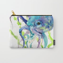 Underwater Scene Design, Octopus Carry-All Pouch