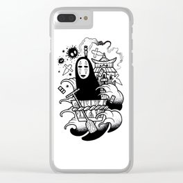 No Face Clear iPhone Case