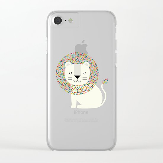 As A Lion Clear iPhone Case
