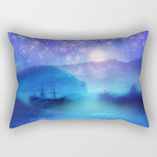 Fantasy in Blue. Rectangular Pillow