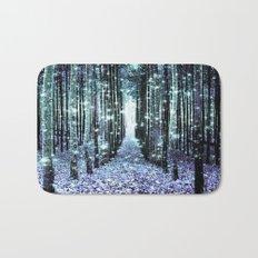 Magical Forest Lavender Aqua/Teal Bath Mat