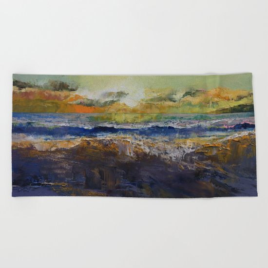 California Waves Beach Towel