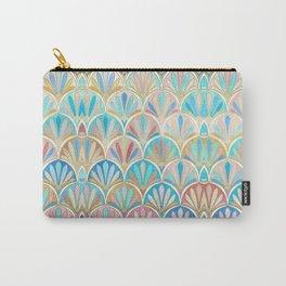 Vintage Twenties Art Deco Pastel Pattern Carry-All Pouch