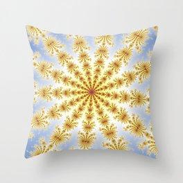 Fractal Convergence Throw Pillow