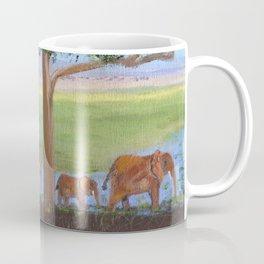 African Elephants Coffee Mug