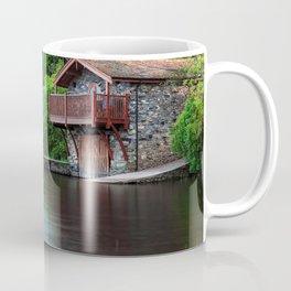 Smooth as Glass Lake and Boathouse Coffee Mug