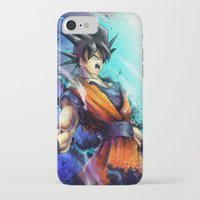 goku iPhone & iPod Cases featuring Goku by Vincent Vernacatola