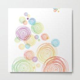 Baloons Sketch Metal Print